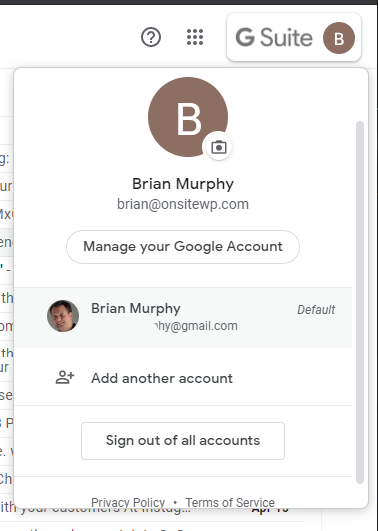Switching Between Gmail Accounts